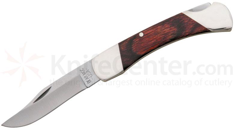 Bear & Son 205R Lockback Folder 3.75 inch Closed, Rosewood Handles