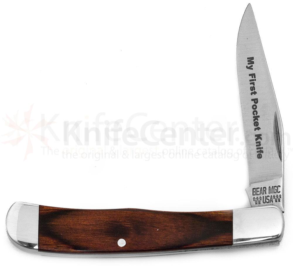 Bear & Son 2154R 1/2  inchMy First Pocket Knife inch Rosewood Unsharpened Knife 3 inch Closed