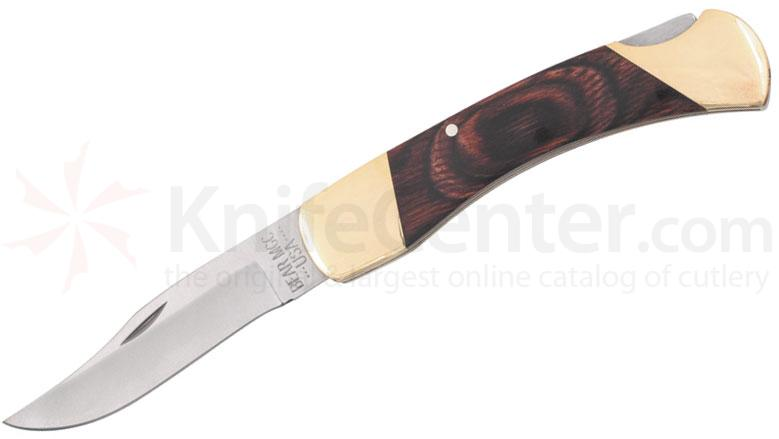 Bear & Son Professional Lockback Folding Knife, 5 inch Rosewood Handles
