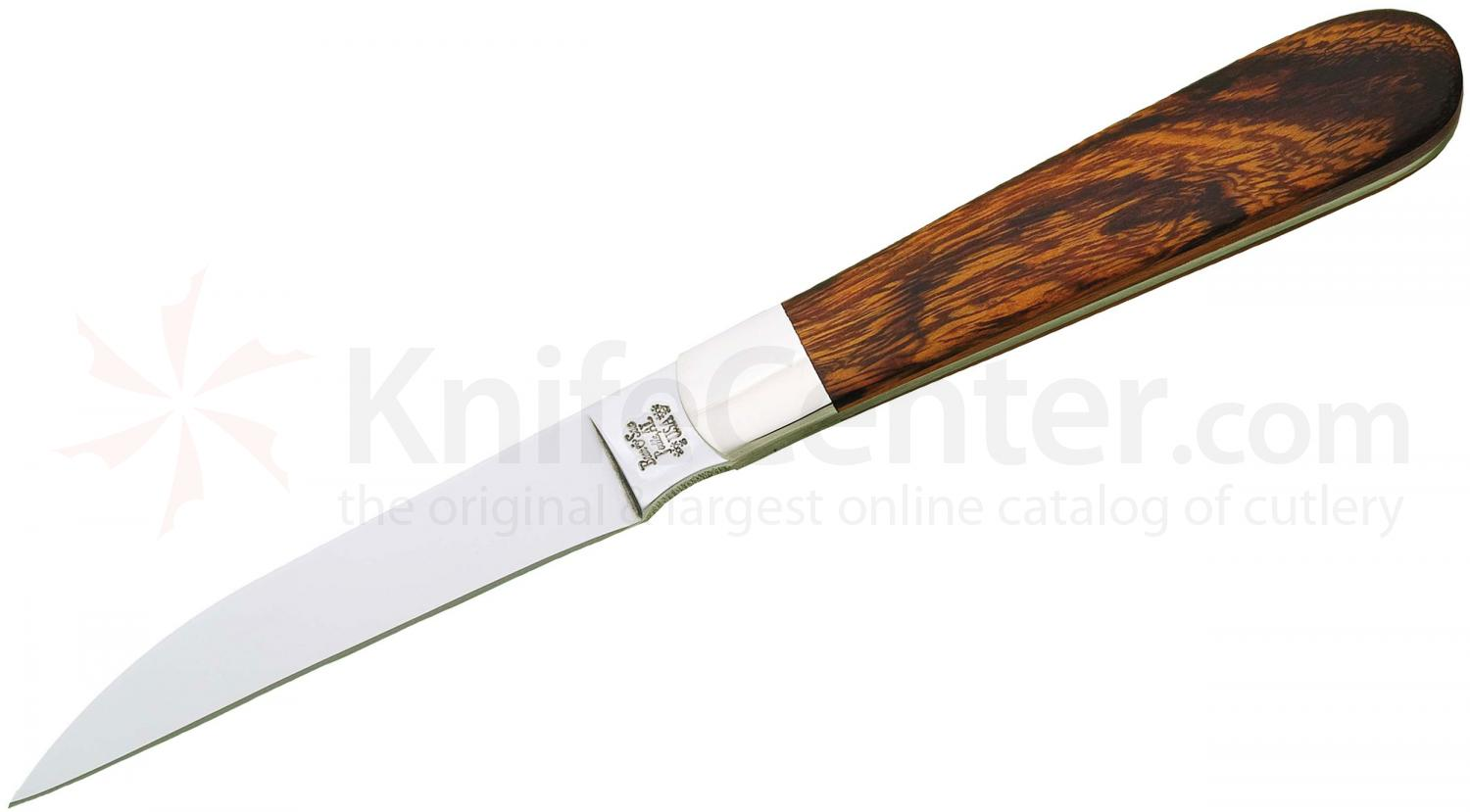Bear & Son K2LOE Kodiak Series Letter Opener 3-1/8 inch Blade, Desert Ironwood Handles, Leather Desk Sheath
