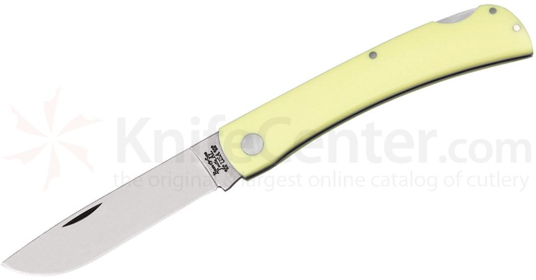 Bear & Son C338L Yellow G10 Large Farmhand Lockback 4-5/8 inch Closed