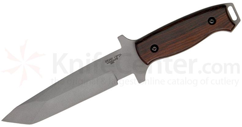 Bear OPS C-110-CB2-P Combat Knife 6 inch Bead Finish Tanto Blade, Cocobolo Handles
