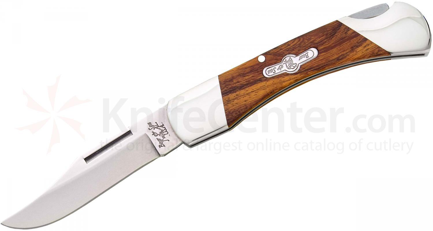 Bear & Son K205E Kodiak Series Lockback Folder 2-5/8 inch Blade, Desert Ironwood Handles