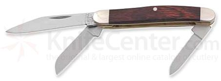 Bear & Son Small Stockman Knife w/ Rosewood Handle - 2.75 inch Closed