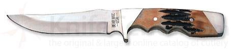 Bear & Son Unswept Skinner w/ Genuine India Stag Bone Handle