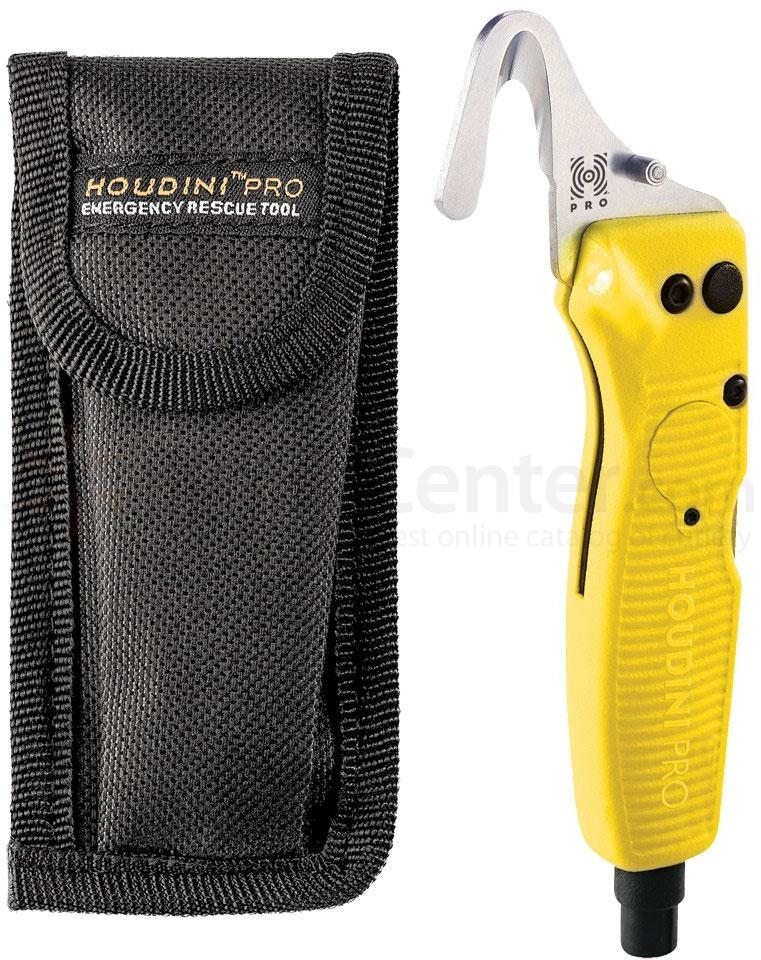 Benchmade 30200 Houdini Pro Emergency Rescue Tool with LED Light and Window Breaker, Yellow