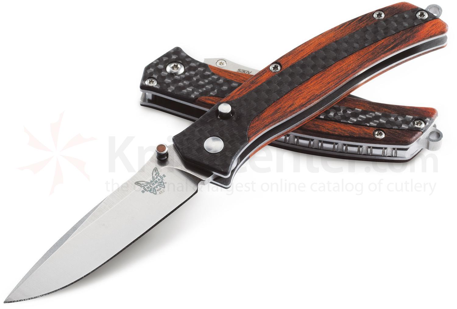 Benchmade 482 Megumi Gentlemans Folding Knife 2.48 inch S30V Plain Blade,  Cocobolo and Carbon Fiber