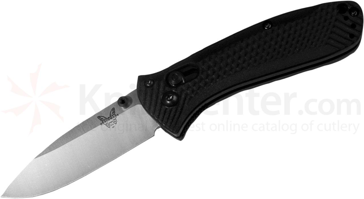 Benchmade 527 Mini-Presidio Ultra Folding 2.97 inch Satin Plain Blade, Noryl GTX Handles