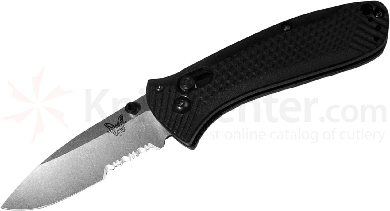 Benchmade 527S Mini-Presidio Folding Knife 2.97 inch Satin Combo Blade, Noryl GTX Handles