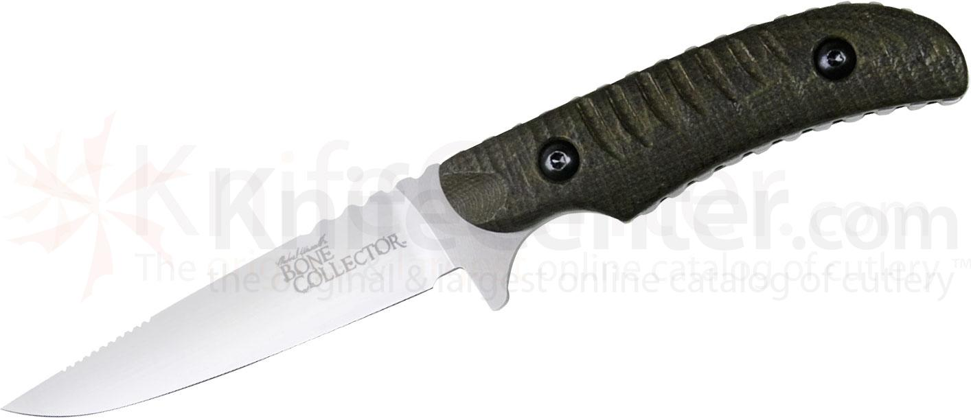 Benchmade Michael Waddell's Bone Collector Skinner 4.3 inch D2 Plain Blade, Green/Black G10 Handles