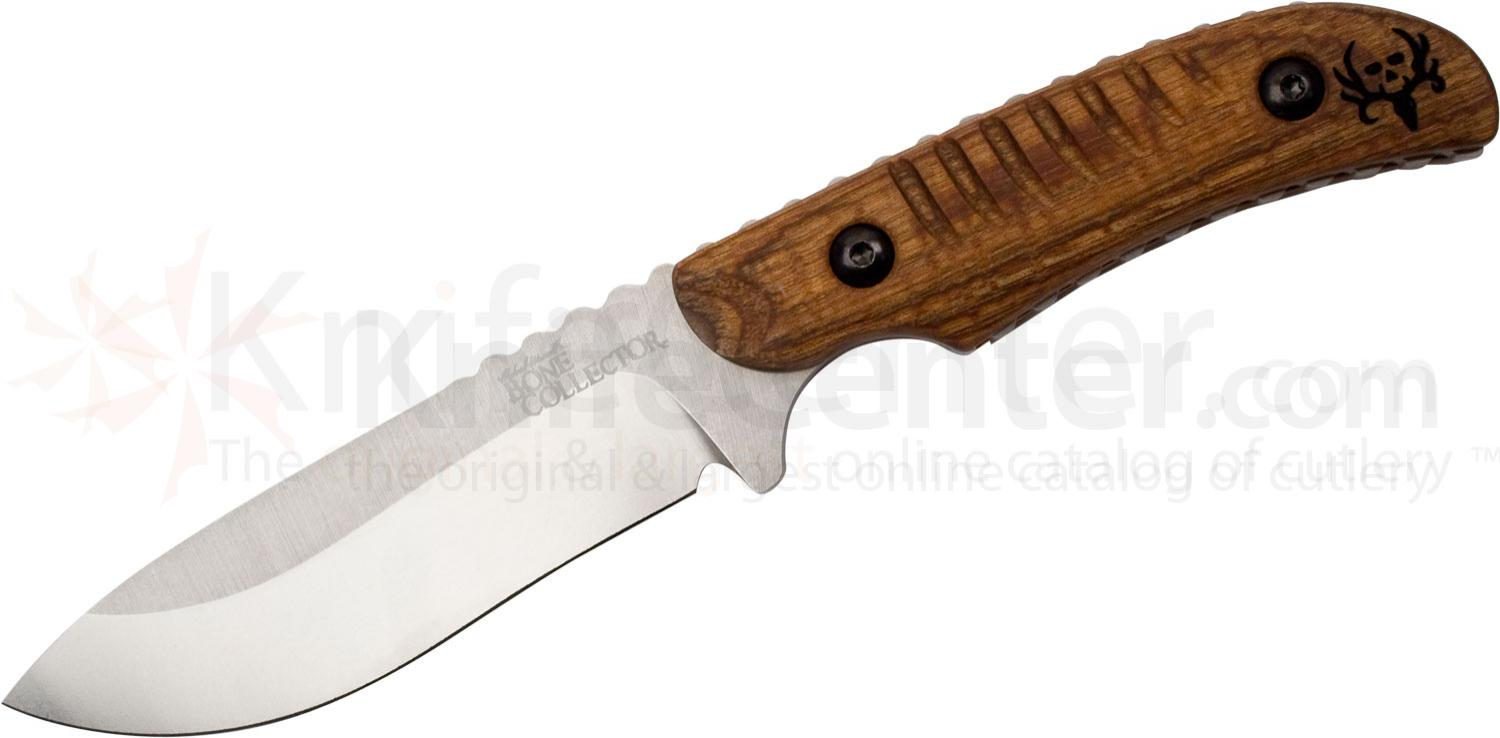 Benchmade Michael Waddell's Bone Collector Hunter 4.1 inch D2 Plain Blade, Walnut Wood Handles