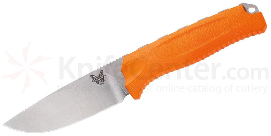 Benchmade Hunt 15008-ORG Steep Mountain Hunter Fixed 3.50 inch S30V Blade, Orange Santoprene Handles