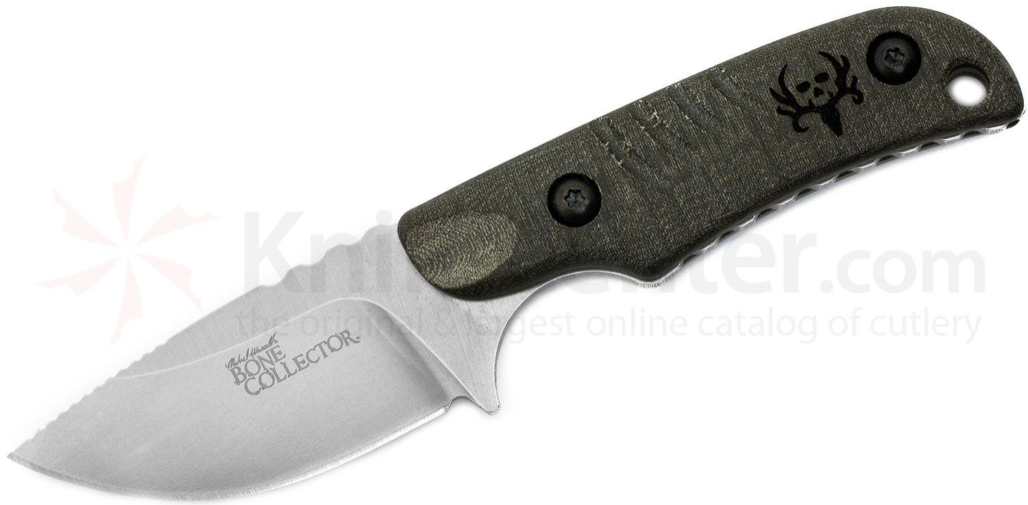 Benchmade Michael Waddell's Bone Collector Skinner Fixed 2.68 inch D2 Plain Blade, Micarta Handles
