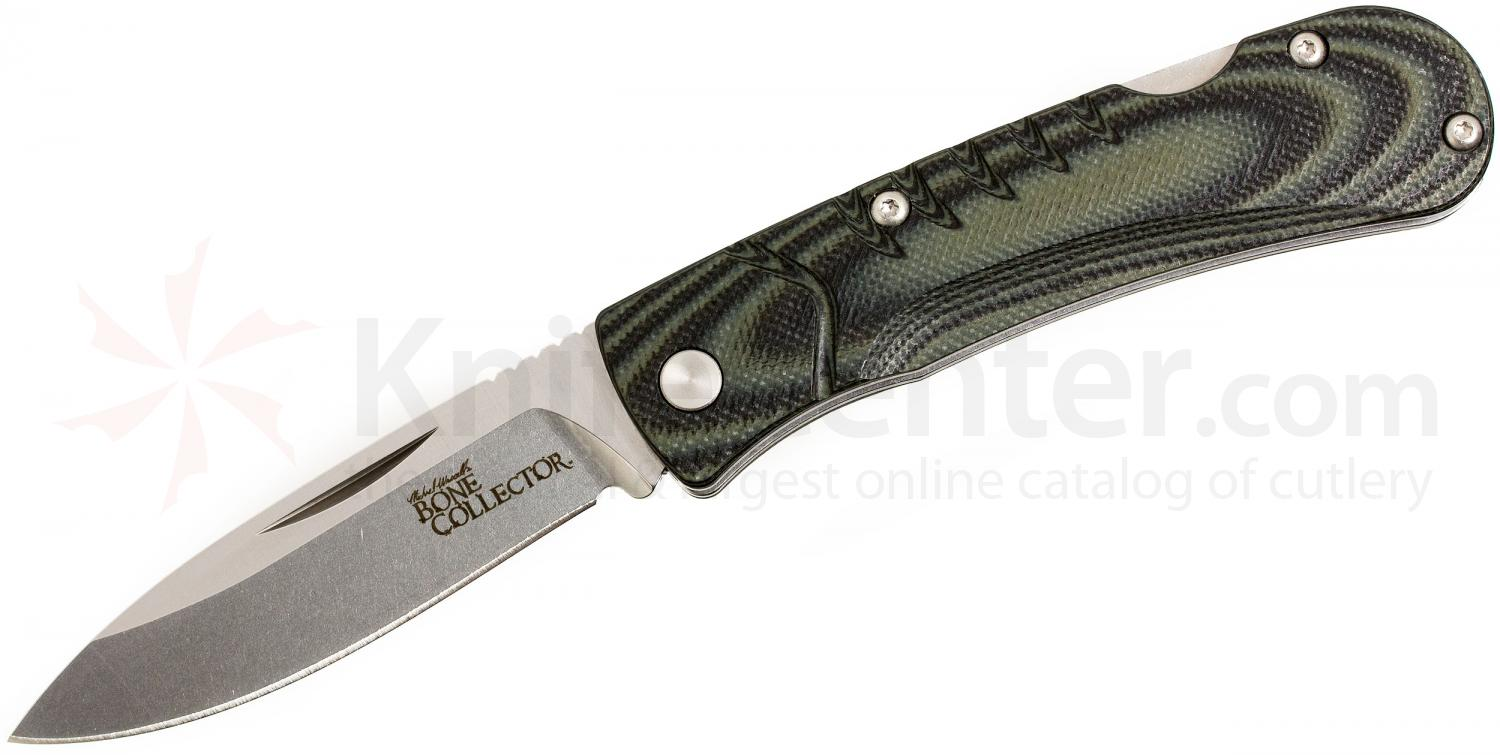 Benchmade 15055-1 Bone Collector Lockback Folder 2.89 inch D2 Plain Blade, Micarta Handles