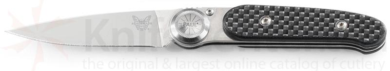 Benchmade A2 235 Paul Axial Gent's Knife 2.58 inch Blade, Carbon Fiber Handles