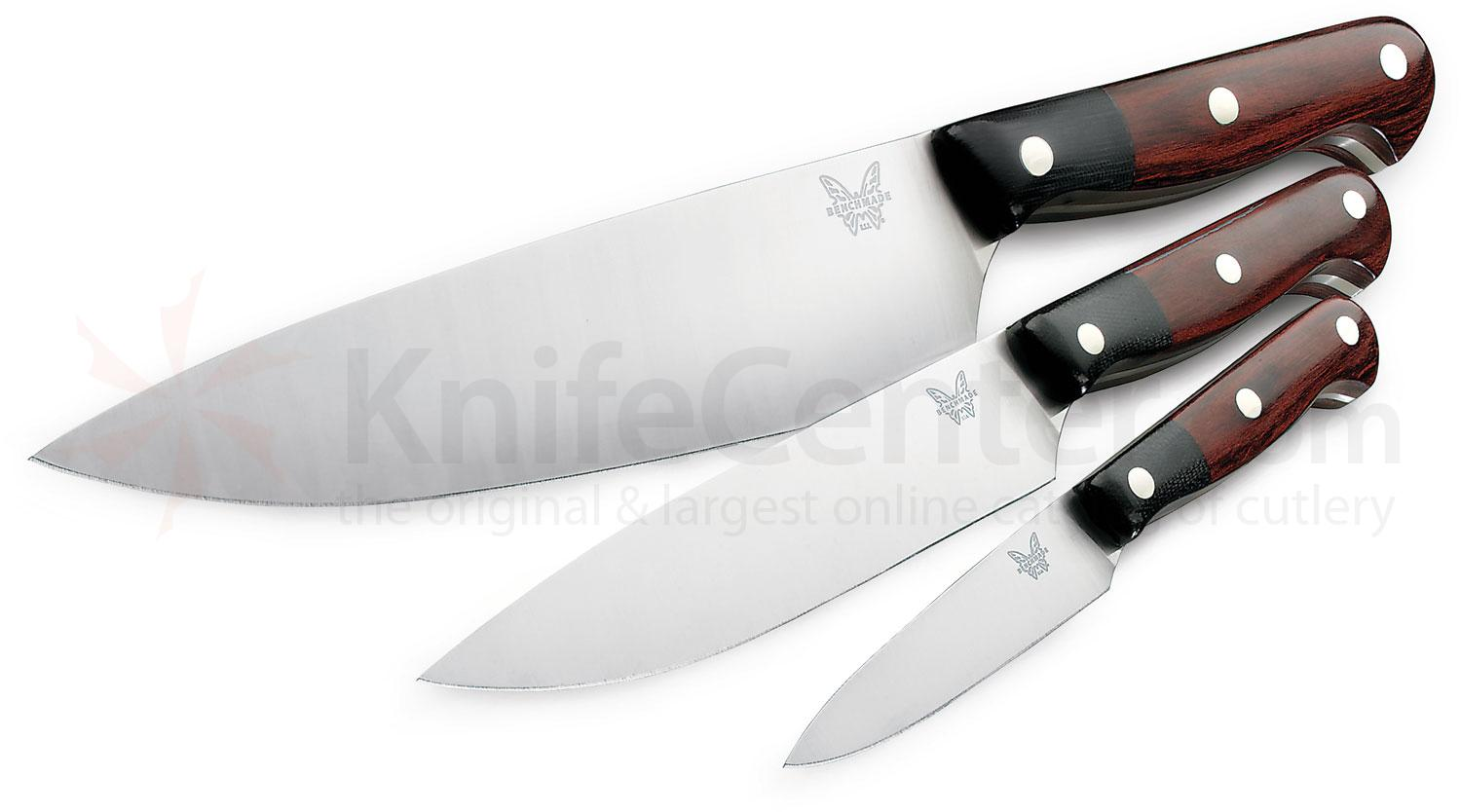 Uncategorized Benchmade Kitchen Knives benchmade model 4501 gold class prestigedges 3 piece kitchen knife set