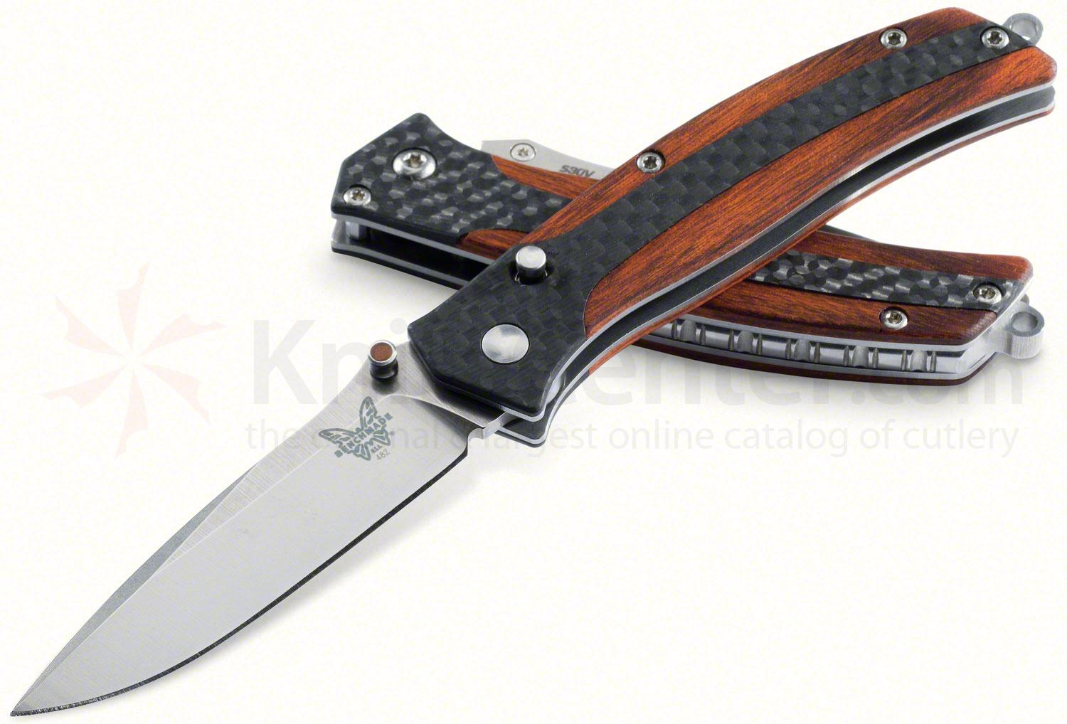 Benchmade 482 Megumi Gentlemans Folding Knife 2.48 inch S30V Plain Blade, Cocobolo and Carbon Fiber Handles