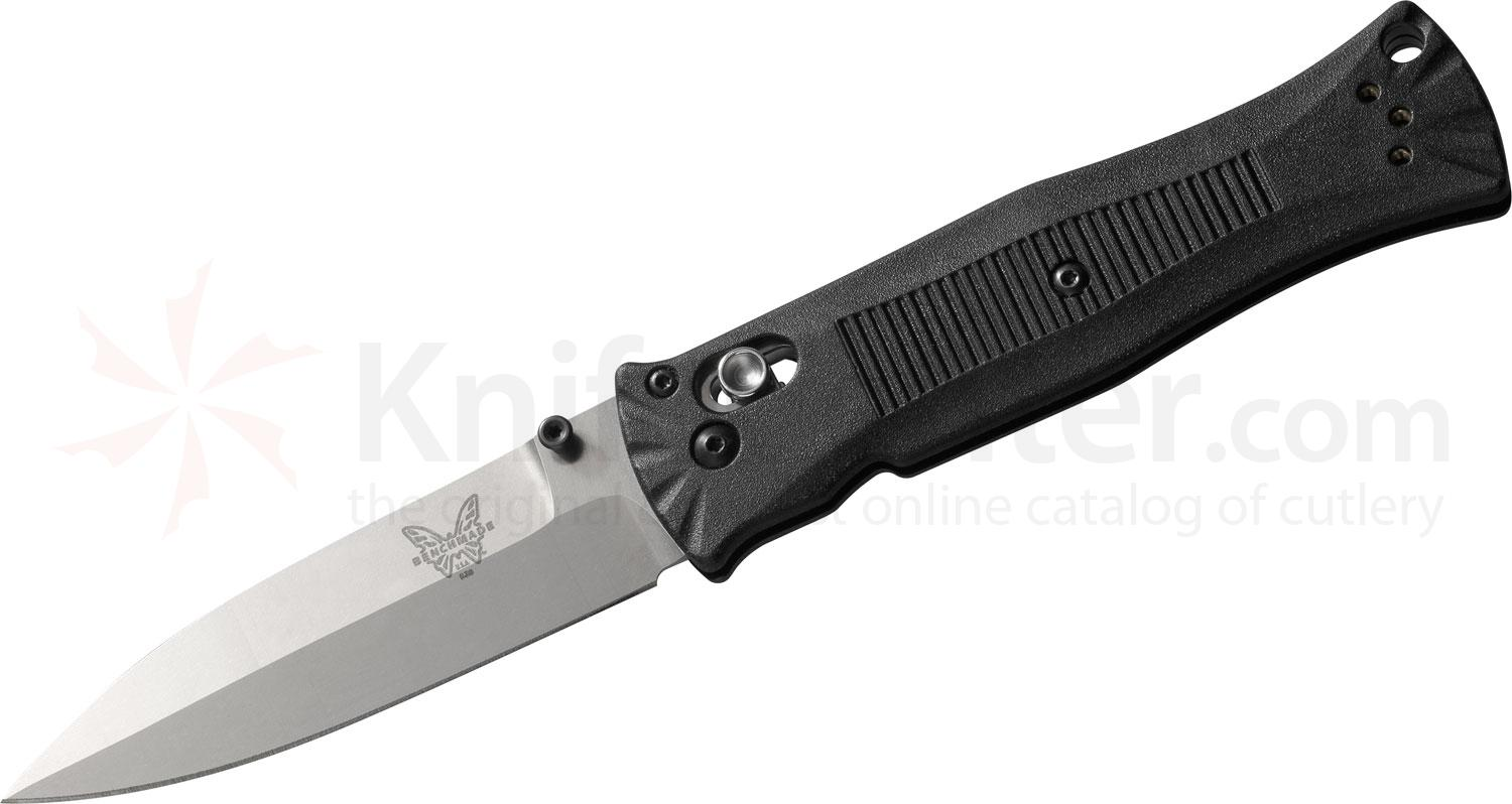 Benchmade 530 Pardue AXIS Folder 3.25 inch Satin Plain Blade, Grivory Handles