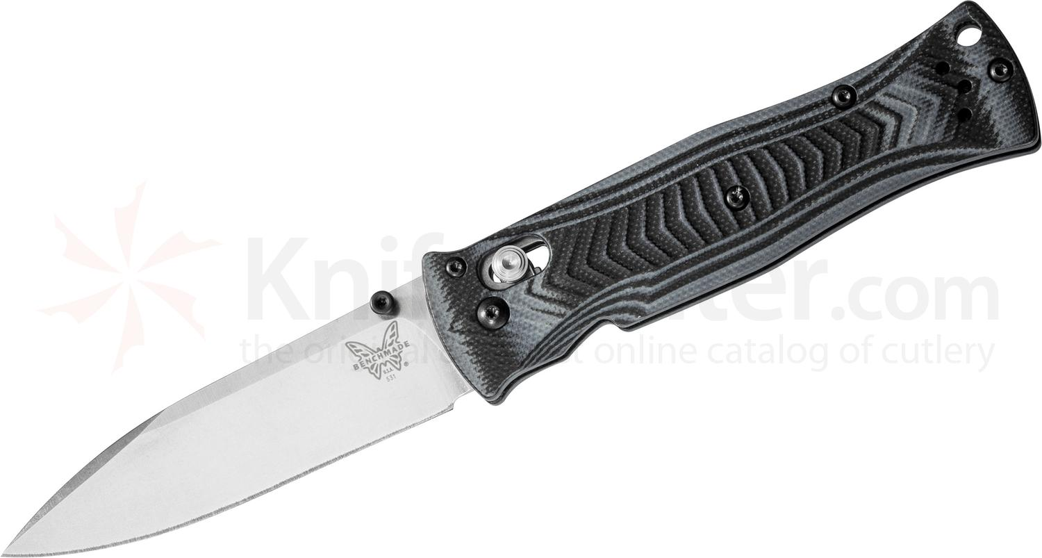 Benchmade 531 Pardue AXIS Folding Knife 3.25 inch Satin Plain Blade, G10 Handles