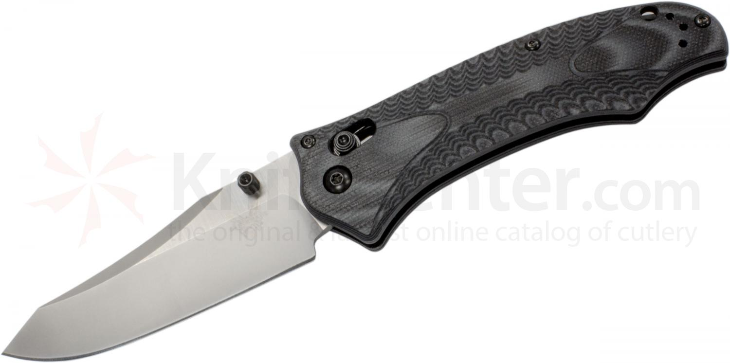 Benchmade 950 Osborne Rift AXIS Folder 3.67 inch Satin Plain Blade, Black and Charcoal G10 Handles