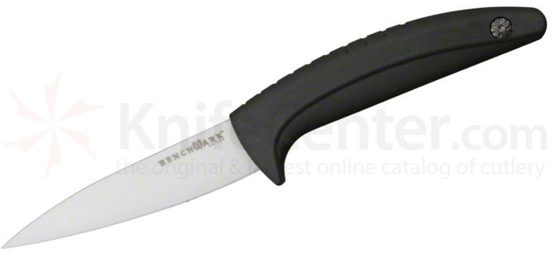 Benchmark Paring Knife 4 inch White Ceramic Blade, Soft Grip Handle