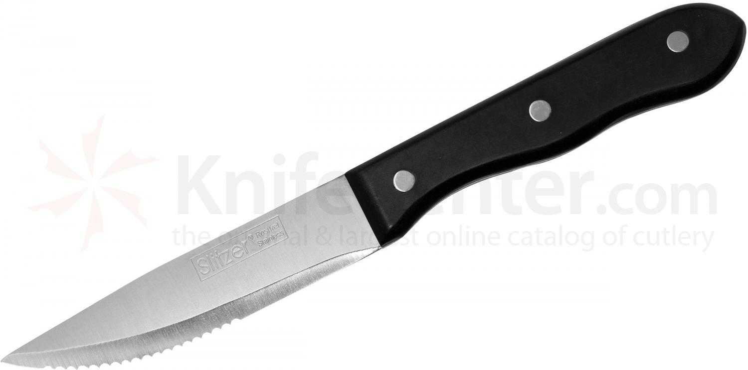 Slitzer Jumbo Steak Knife 4-3/4 inch Half Serrated Blade