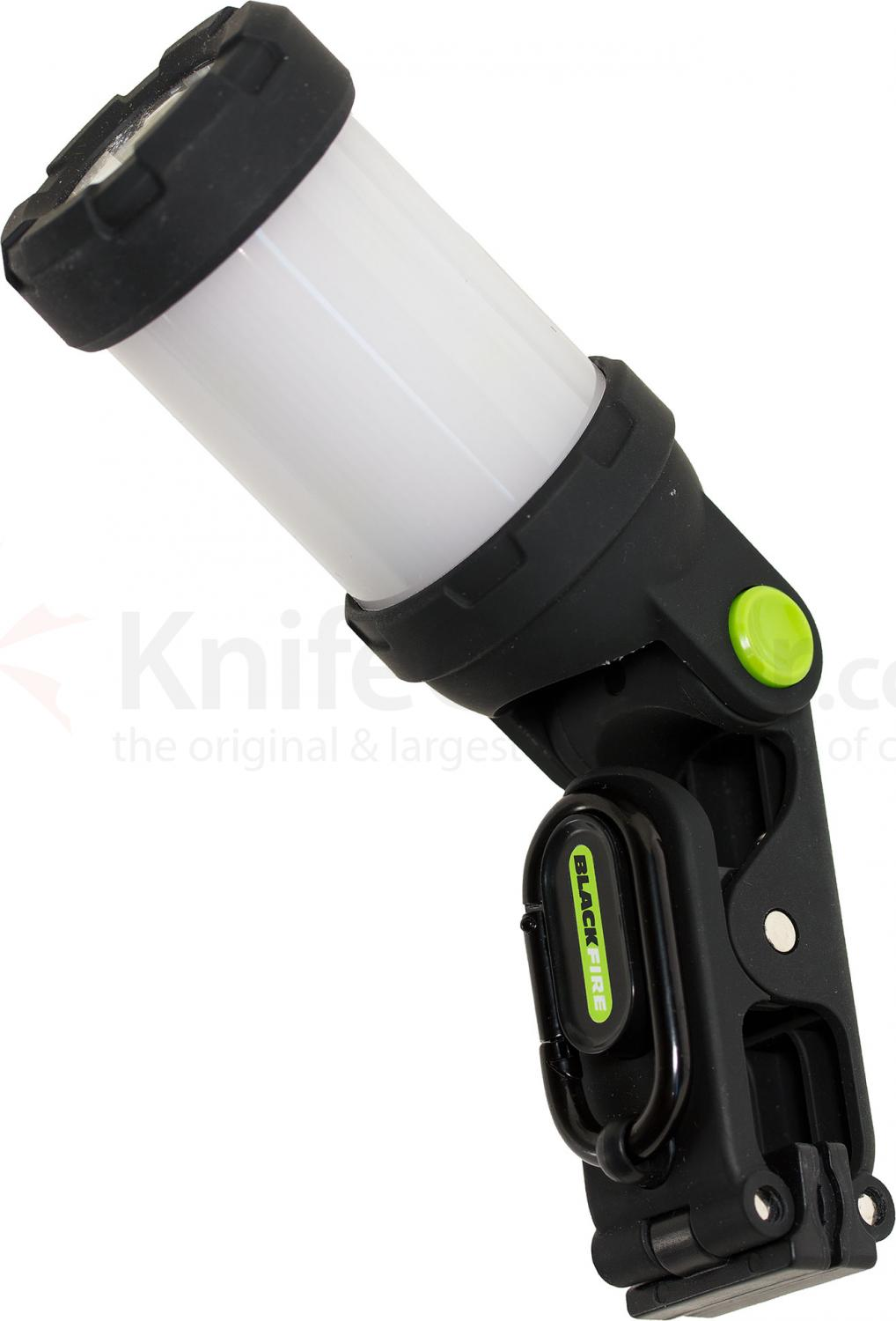 Blackfire Clamplight Backpack LED Flashlight, Black, 125 Max Lumens (BBM920)