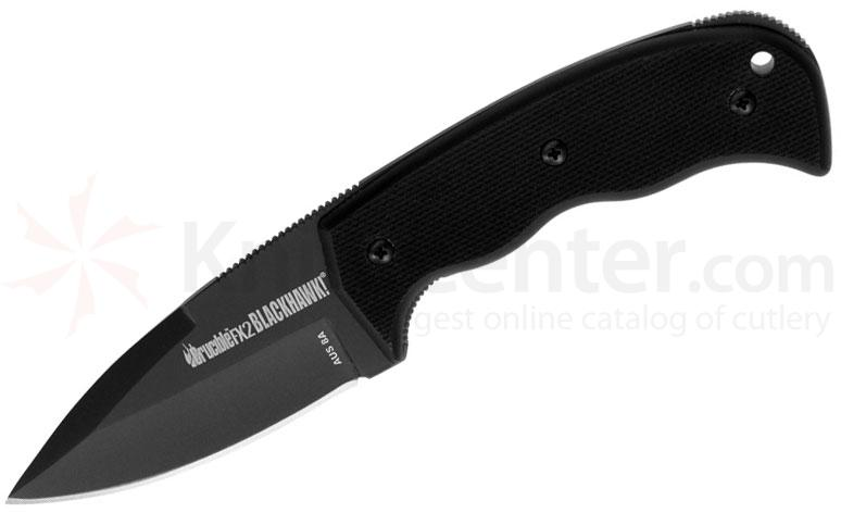 BLACKHAWK! Crucible FX2 Fixed 3.2 inch Plain Blade, G10 Handles
