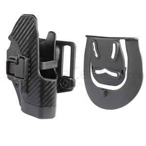 Blackhawk CF Holster w/BL & Paddle Serpa, RH, Fits Glock 26/27/33