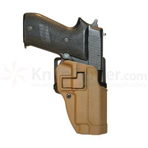 Blackhawk CF Holster w/BL & Paddle, Serpa, RH, Coyote Tan, Sig 220
