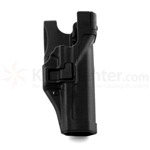 Blackhawk Level 3 Serpa Duty Holster, RH, Black, Fits Glock 20/21