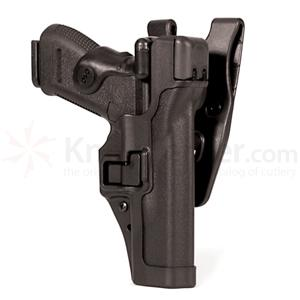 Blackhawk Level 3 Serpa Duty Holster, RH,  S&W MP 9/40, Black