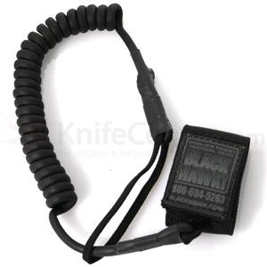 Blackhawk Tactical Pistol Lanyard, Coil Black
