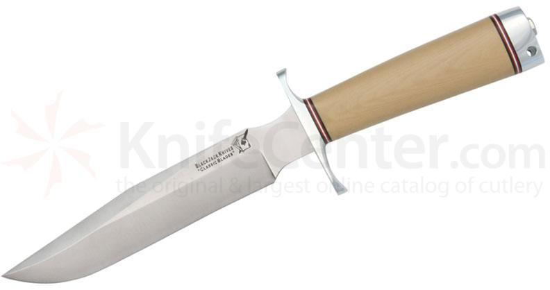 Blackjack Classic Model 7 Fixed 7 inch Blade, Antique Ivory Micarta Handles