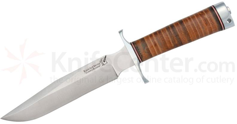 Blackjack Classic Model 7 Fixed 7 inch Blade , Stacked Leather Handles