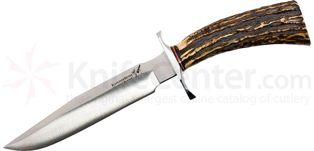 Blackjack Classic 7 Fixed 7 inch Blade, Genuine Crown Stag Handles