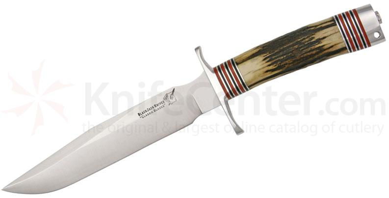Blackjack Classic 7 Fixed 7 inch Blade, Genuine Stag Handles