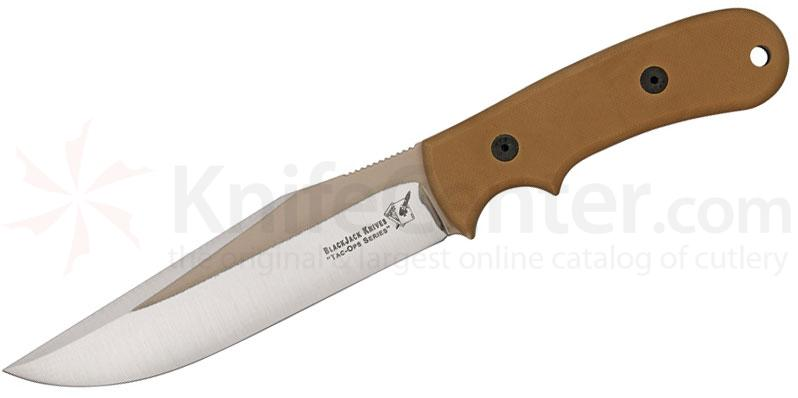 Blackjack Tac Ops 6 Ranger Fixed 6 inch 1095 Blade, Coyote Brown Micarta Handle, Kydex Sheath