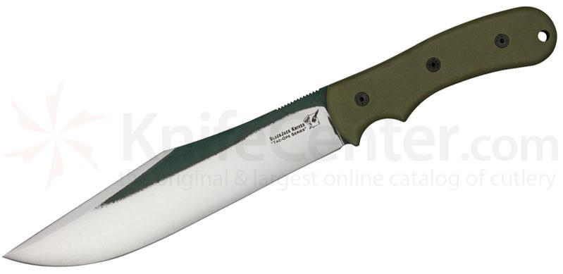 Blackjack Tac Ops 8 Ranger Fixed 8-1/2 inch 1095 Blade, Ranger Green Micarta Handle, Kydex Sheath