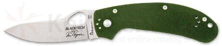 Blade Tech Wegner Professional 4 3/4 inch Closed S30V Linerlock with Green G10 Handle