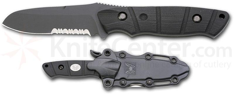 Benchmade Dive Knife X15 Steel Black 3.23 inch Blade Black Handle & Sheath