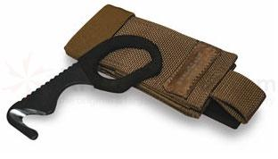 Benchmade 7 Rescue Hook Strap Cutter 440C Steel with Vinyl Coated Grip 4.3 inch Overall, Coyote Sheath