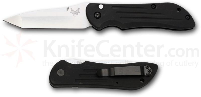Benchmade 9100 AUTO Stryker with Safety 3.7 inch Plain Edge SatinTanto Blade
