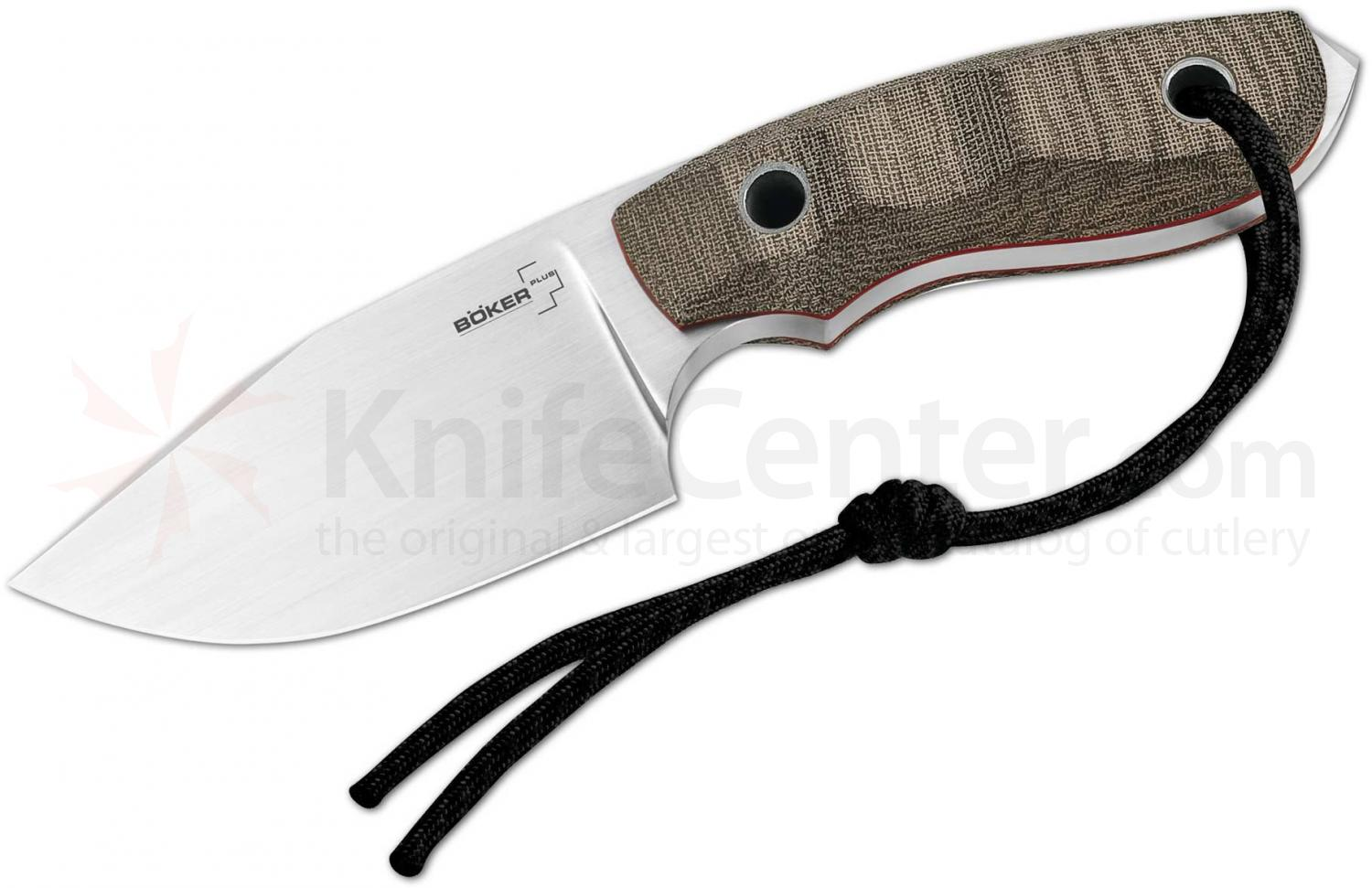 Boker Plus Elegance Vox Bob Fixed 3.75 inch Blade, Micarta Handles, Kydex Sheath