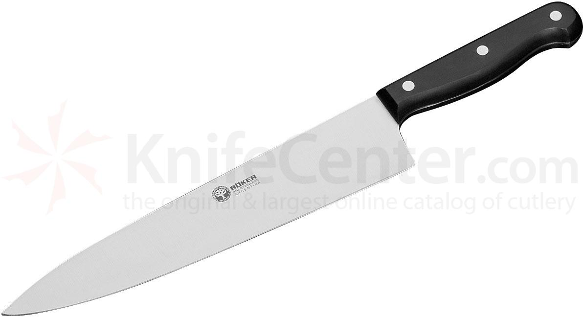 Boker Arbolito Classic Large Chef's Knife 10 inch Blade, Black POM Handles