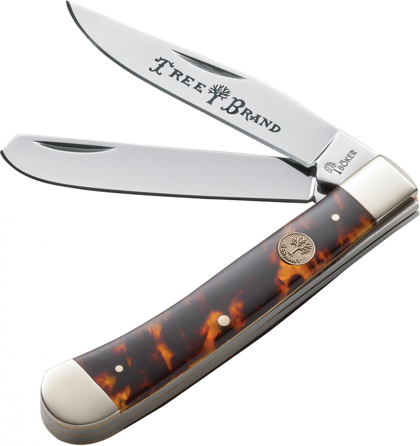 Boker Traditional Series Trapper Faux Tortoise Handles 4-1/4 inch Closed (110731T)