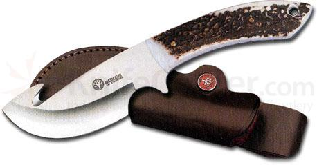 Boker Arbolito Gut Hook Fixed Blade 4 1/4 inch Blade Genuine Stag Handles