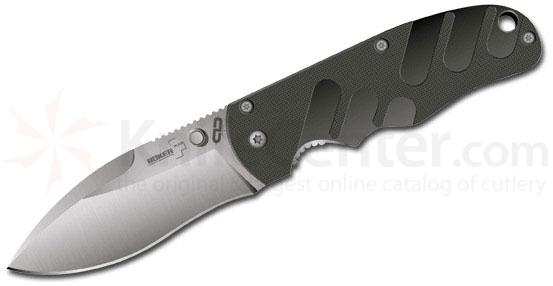 BokerPlus M-Type by Chad Los Banos 3 5/8 inch Plain Edge Blade G10 Handle