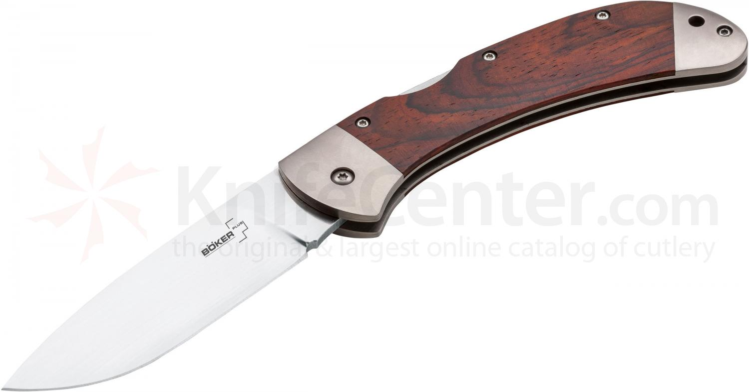 Boker Plus 3000 Lightweight Folding Knife 3-5/8 inch Blade, Cocobolo Handles (01BO086)