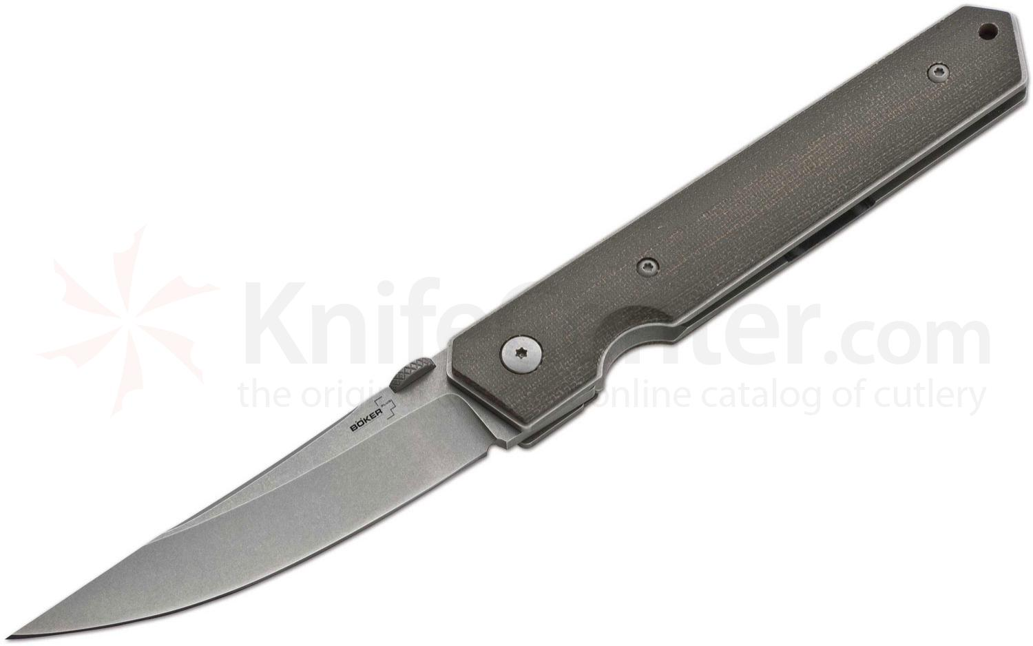 Boker Plus Burnley Kwaiken Folding Knife 3.5 inch Blade, Micarta Handles